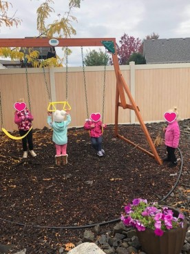 swing set play